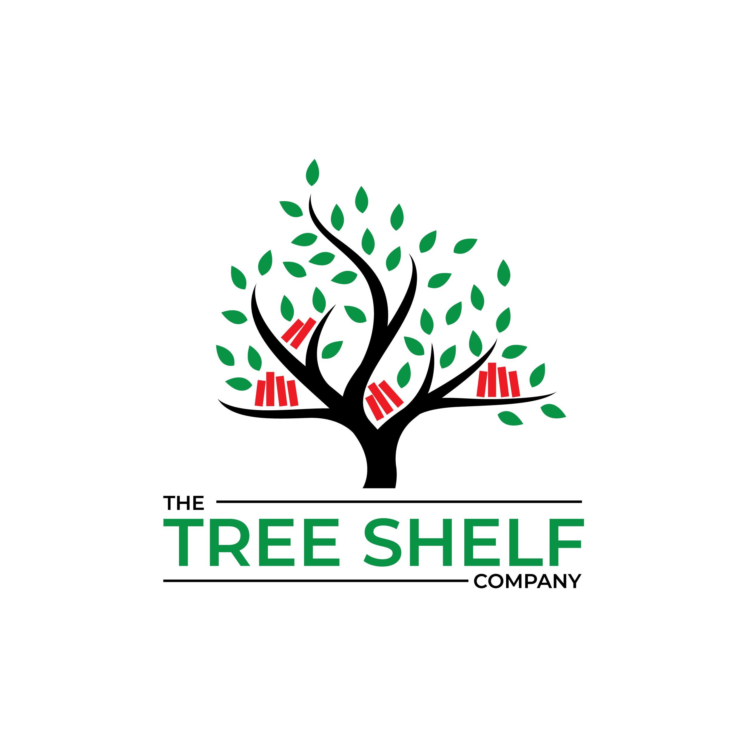 Design a Logo for this new exciting product and company, wooden tree shelves.