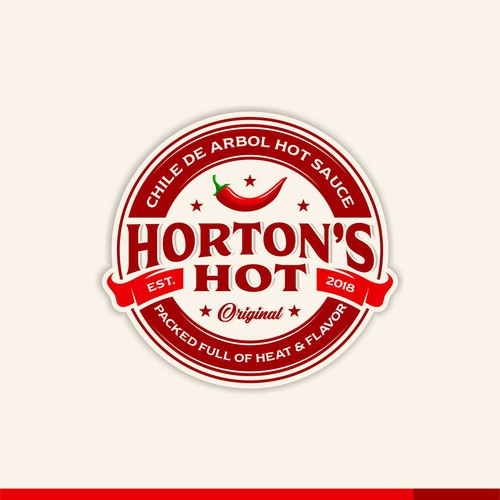 Winning logo design for Horton's Hot