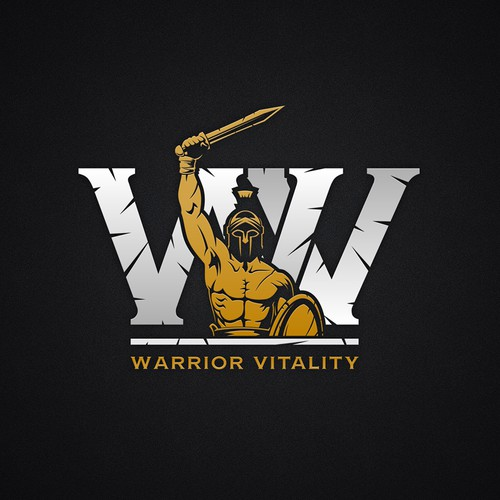 Masculine logo for Warrior Vitality