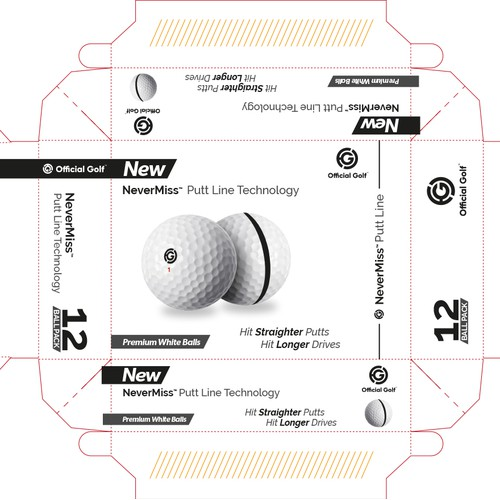 Design packaging for a golf ball box
