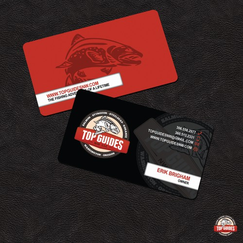 Business Card design for Top Guides