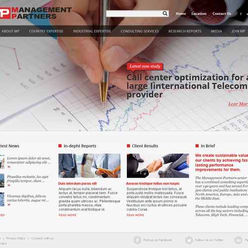 website design for Management Partners