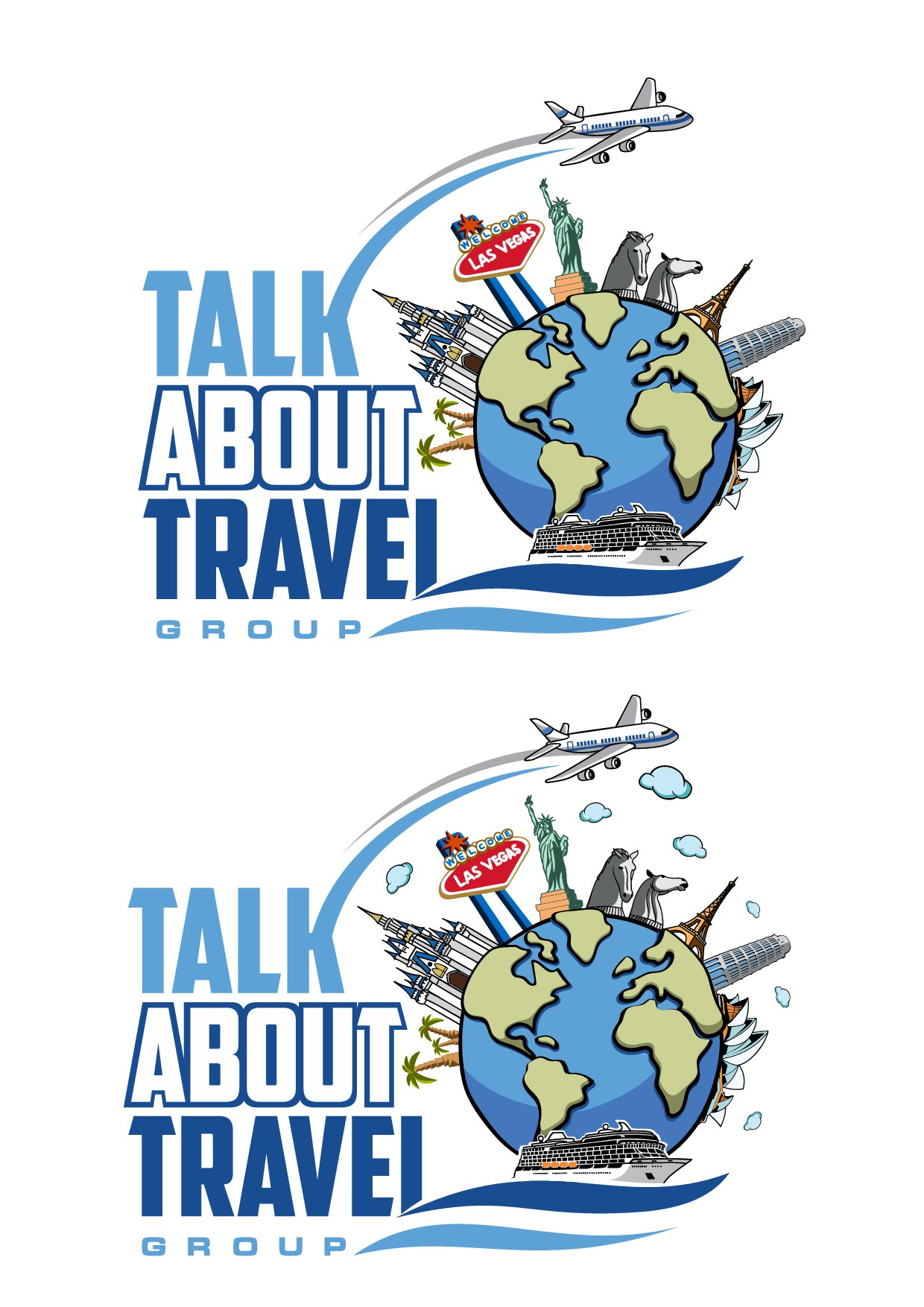 Design an awesome and unique logo for Travel Agency.