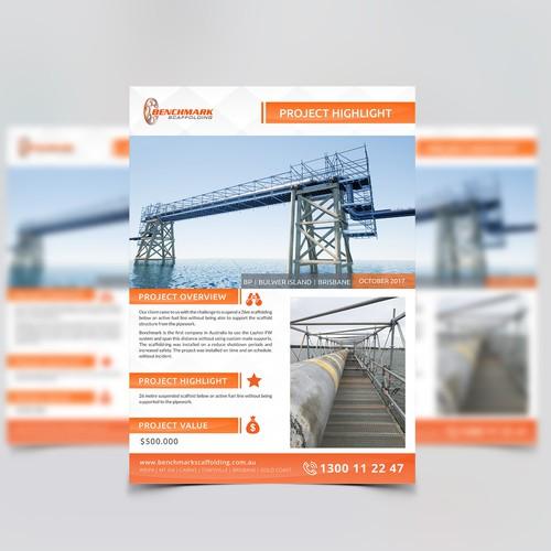Benchmark Flyer Design