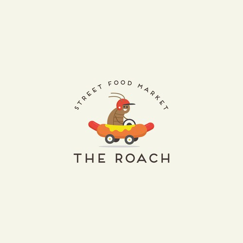 the roach logo design