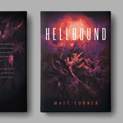 """Hellbound"" - book cover design"
