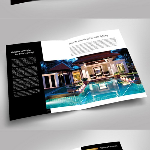 Create a modern, luxury & engaging product brochure for the hospitality industry
