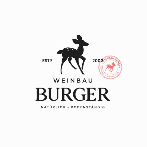 Burger Winery Logo Design