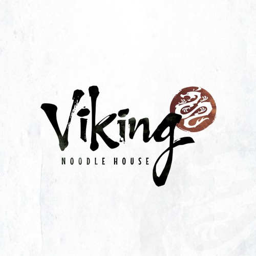 Create a Asian fusion logo for a Viking Chefs noodle house.