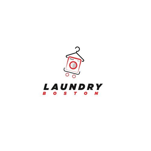 Logo concept of Laundry Boston