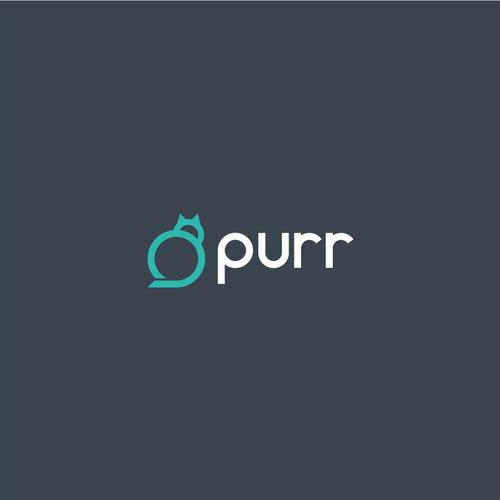 Bold logo concept for Purr