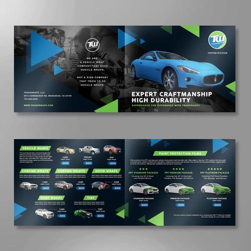 Brochure design for Tradewraps