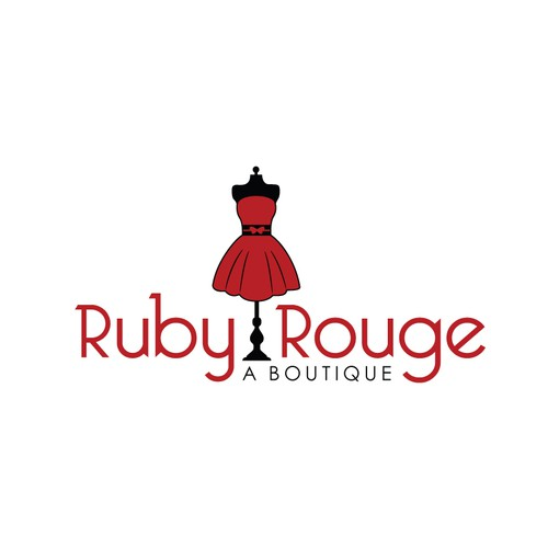 Create the next logo for Ruby Rouge Boutique