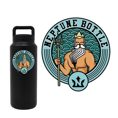 Neptune bottle sticker