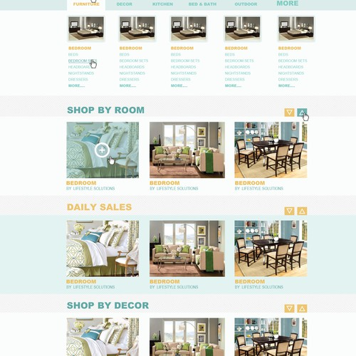Homepage Design for Ecommerce Business - Furniture Seller Store