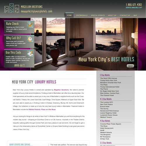 Luxury travel agency seeks layout changes for existing website
