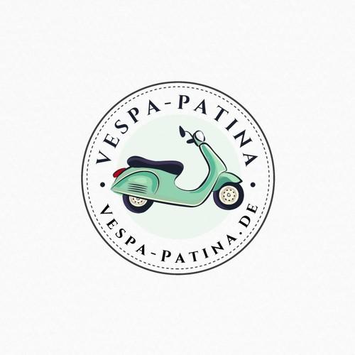 Vintage logo for Vespa Patina