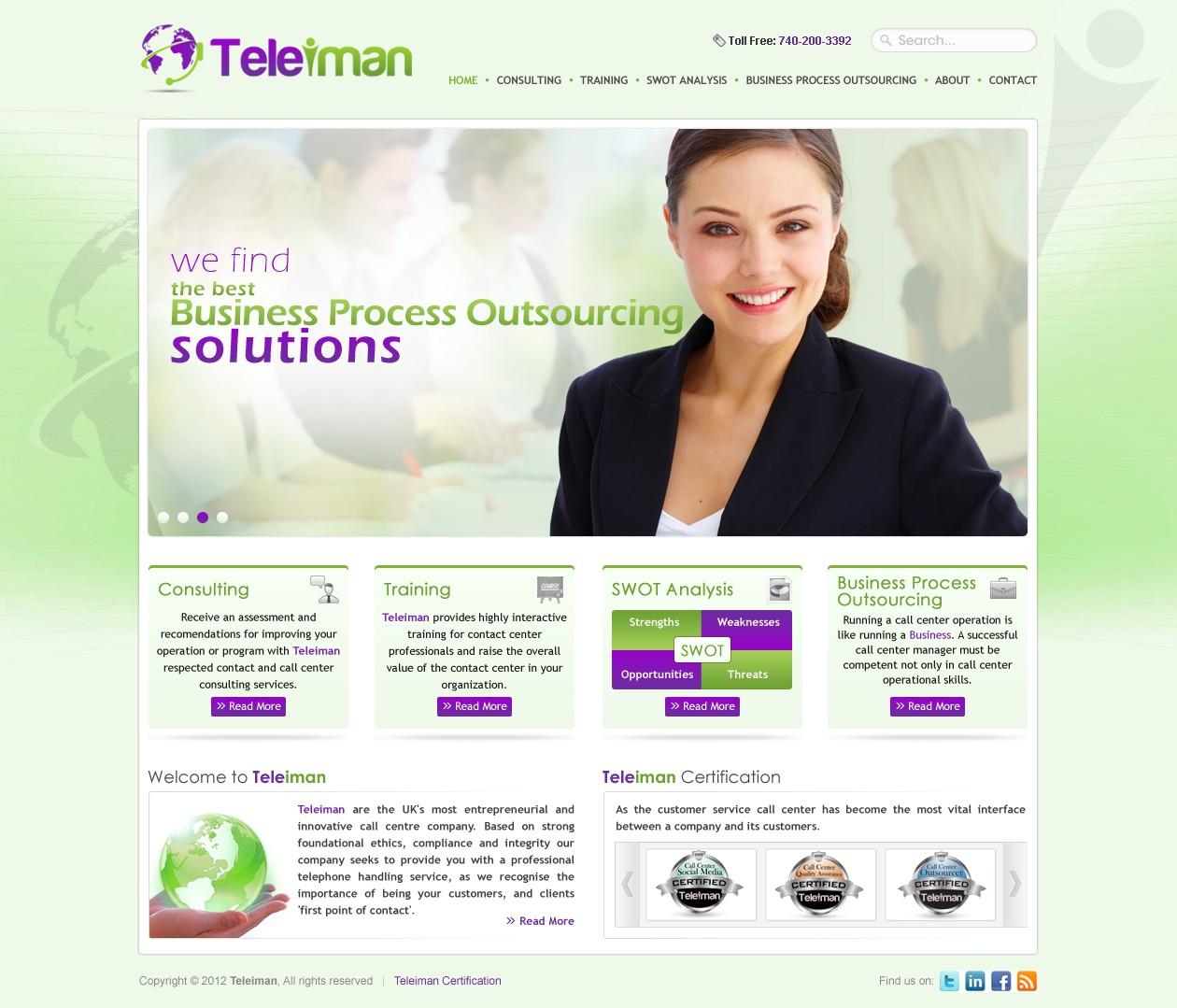Create the next website design for teleiman