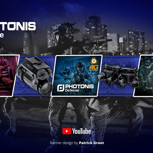 Youtube Banner (Photonis Defense)