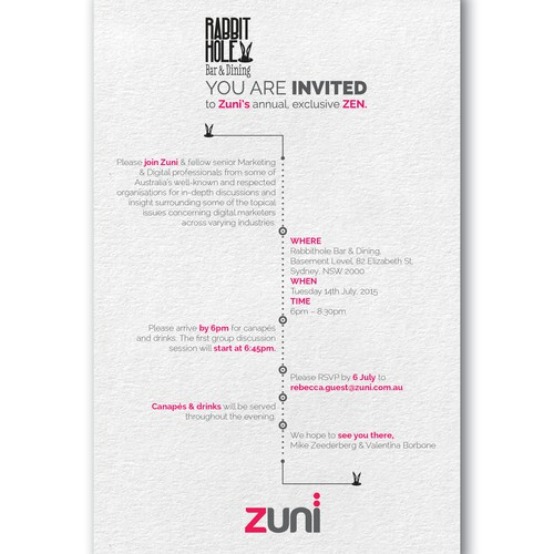 Business event invitation