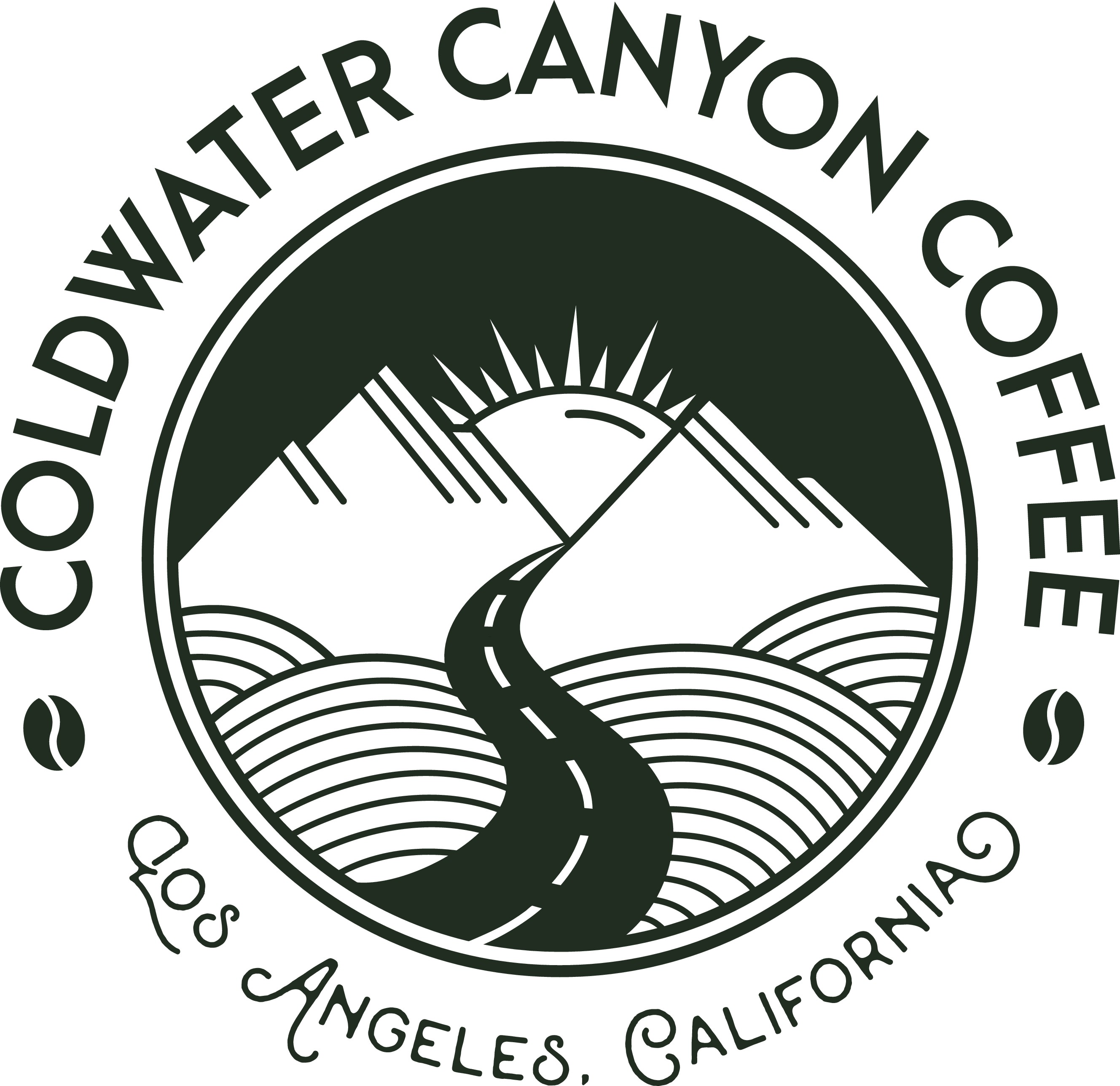 Create a logo for a natural cold brew coffee company based out of Los Angeles, California