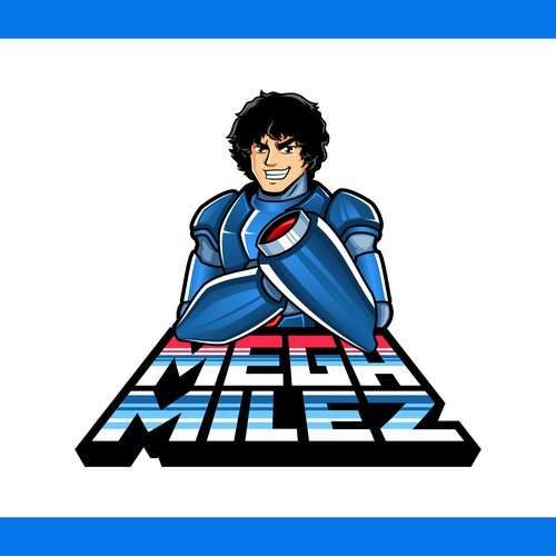 Conceptualize a Modern, Unique and Striking Logo/Character for MegaMilez (Spin off Mega Man)