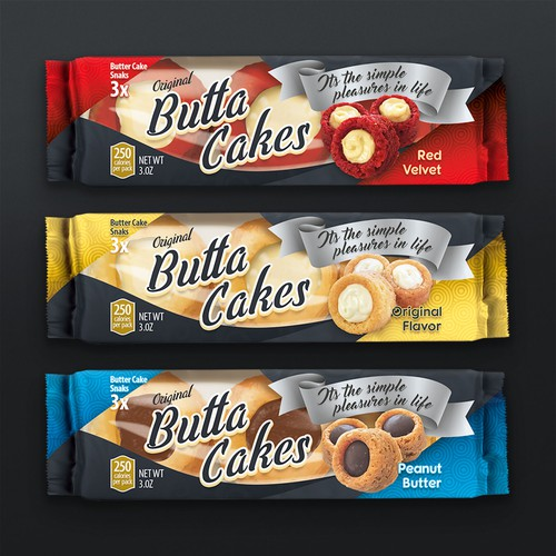 Packaging label for American cakes.