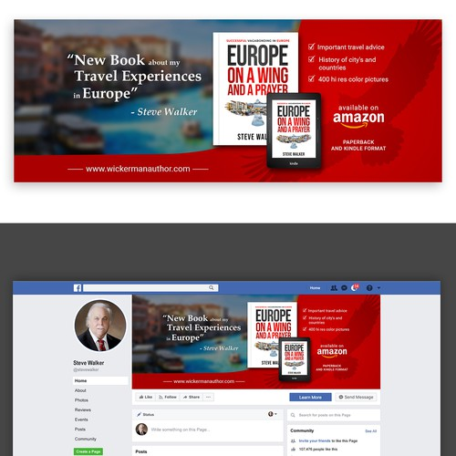 Facebook Cover Photo for book advertisement