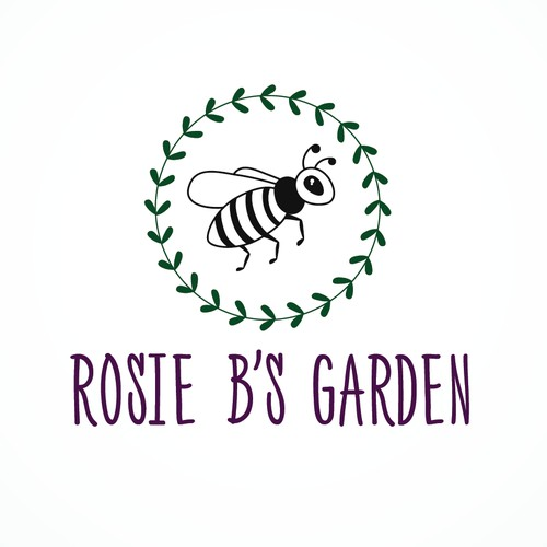 A logo for Rosie B's Garden