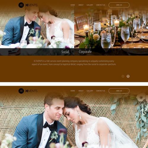 Wedding/event service webdesign