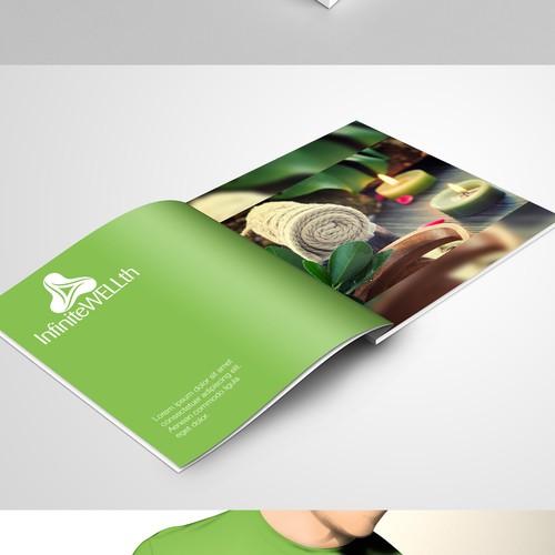 Mockup designs for Infinite Wellth