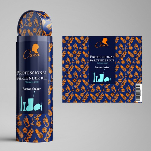 packaging design for the bartender kit