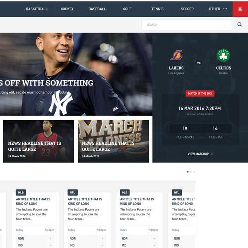 Sports News & Betting Website Design