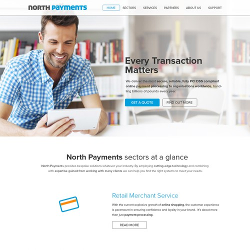 Webdesign for northpayments