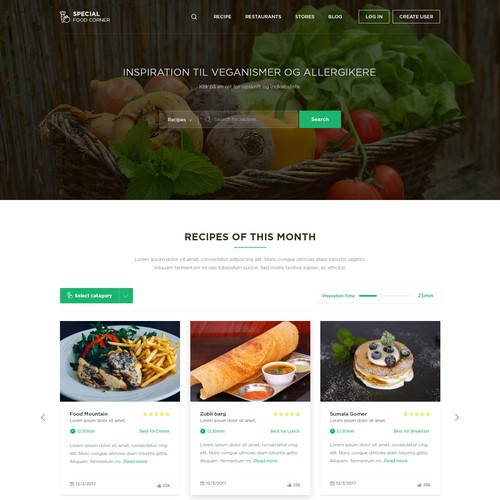 Food & Drink - Special Food (Home page)