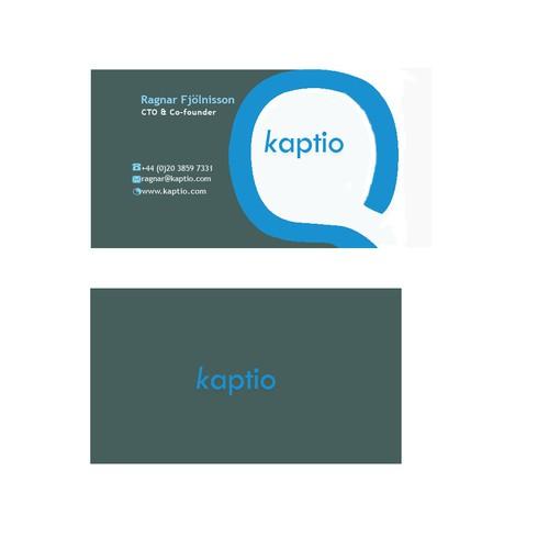 kaptia business card