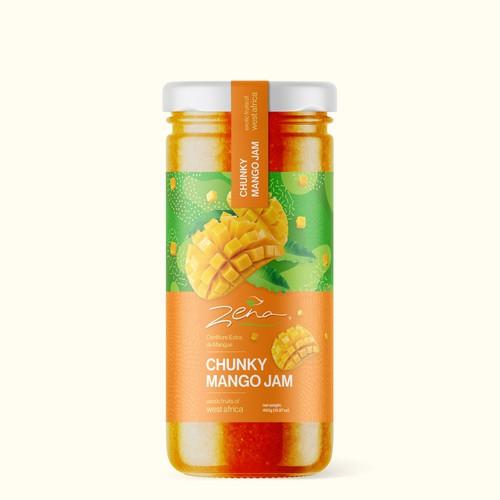 Mango Jam Packaging