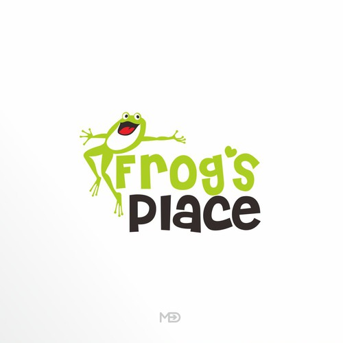 Frog logo for Kid Playground