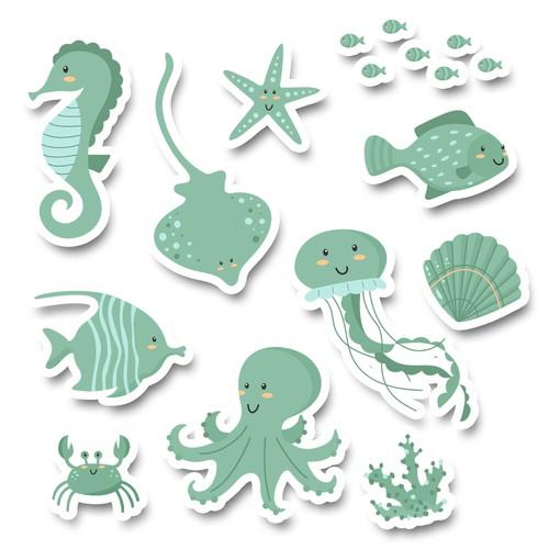 Ocean stickers
