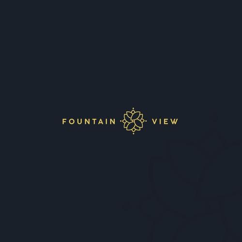 Fountain view logo design