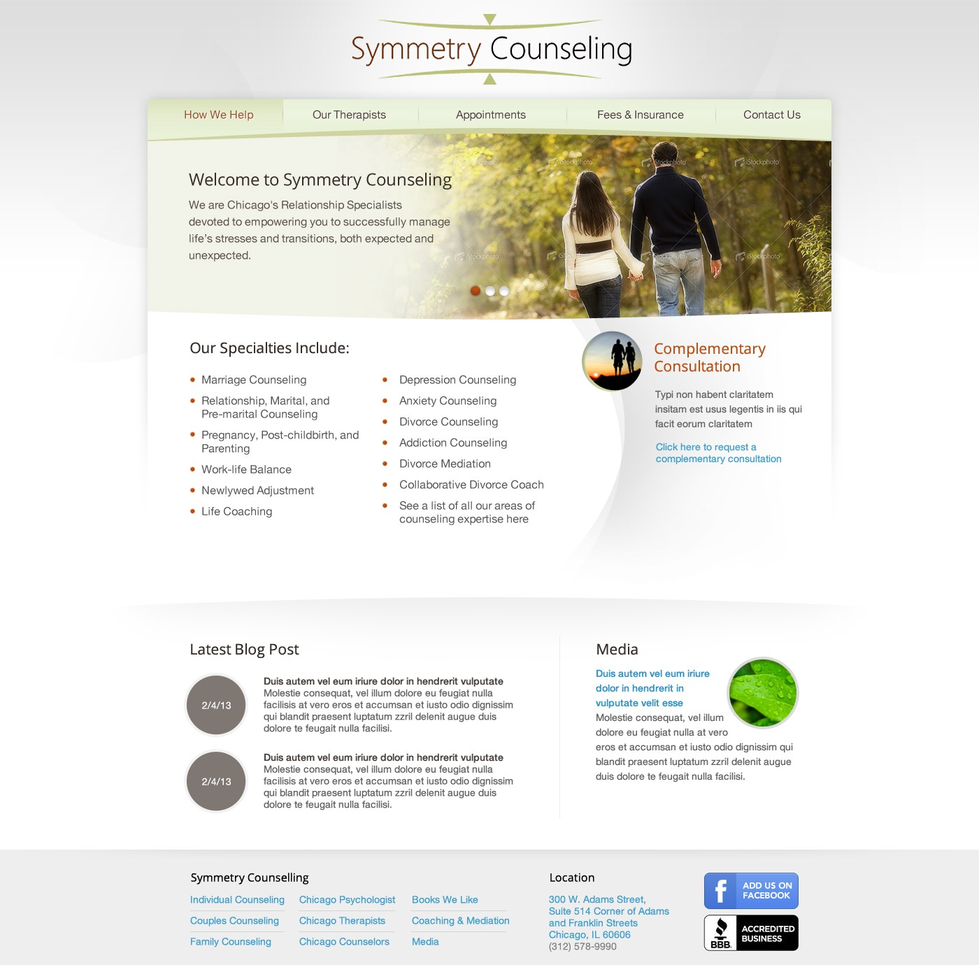 Help Symmetry Counseling with a new website design