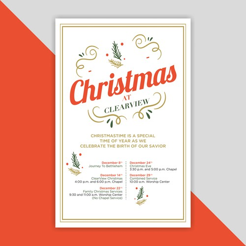 Unique Design concept of Mordern Christmas Poster