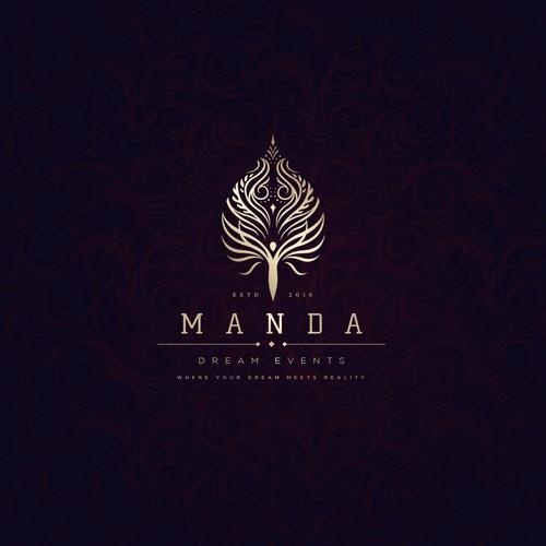 Manda logo design