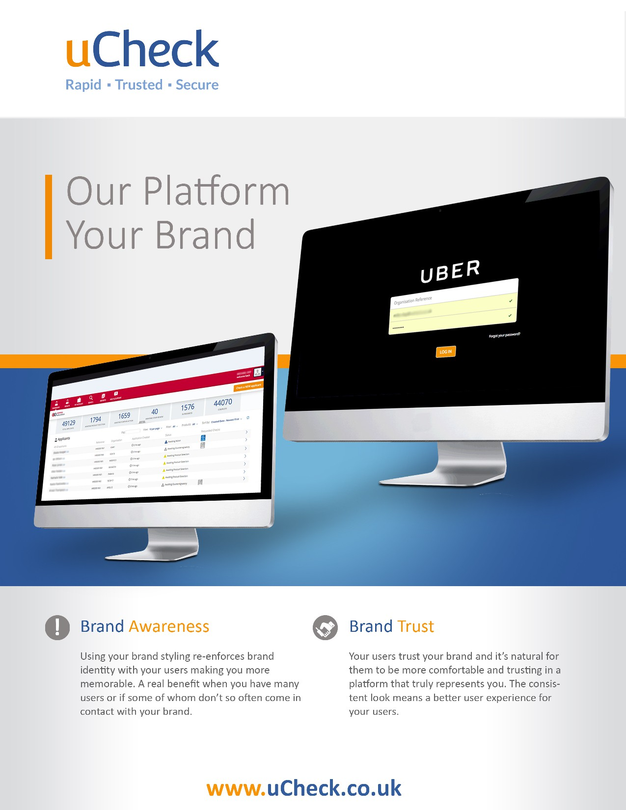 Clear, Professional and Stand Out Marketing PDF for uCheck