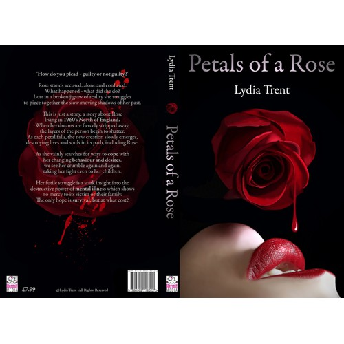 Book Cover for Fiction Novel 'Petals of a Rose'