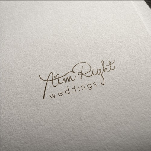 Concept Logo for Aim Right Weddings