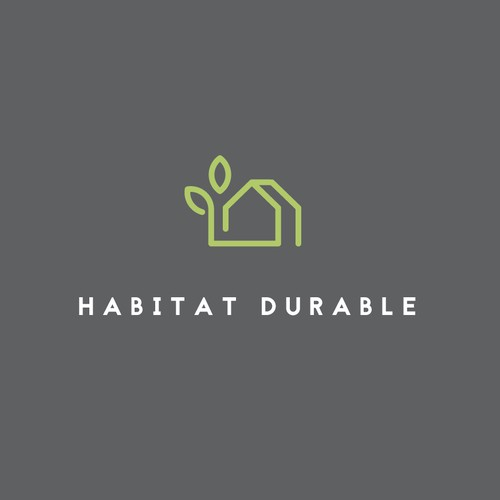 Logo for Habitat Durable - ecological hpuse construction