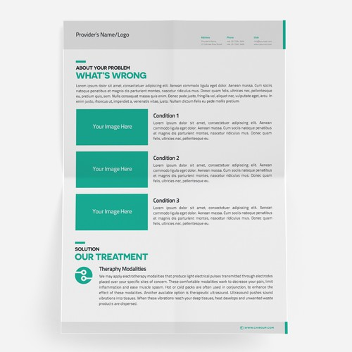 Brochure for ChiroUp