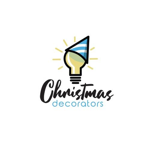 Logo concept for christmas light decoration