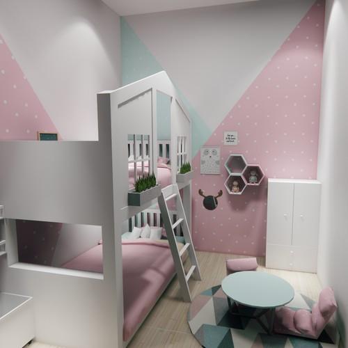 Kids Bedroom 3D Visual